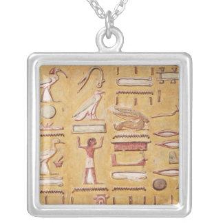 Hieroglyphics, de la tumba de Seti I Colgante Cuadrado