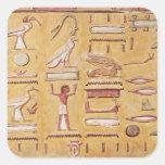 Hieroglyphics, de la tumba de Seti I Pegatina Cuadrada