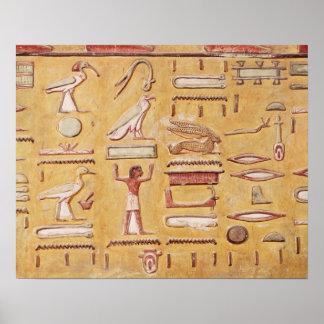 Hieroglyphics, de la tumba de Seti I Póster