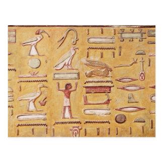 Hieroglyphics, de la tumba de Seti I Postales