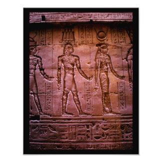 Hieroglyphics egipcios fotografía