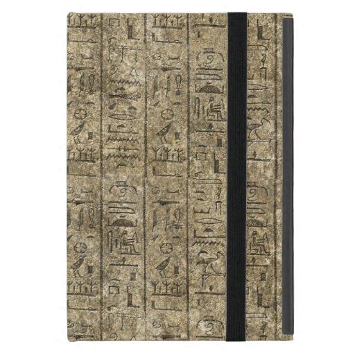 Hieroglyphics egipcios iPad mini fundas