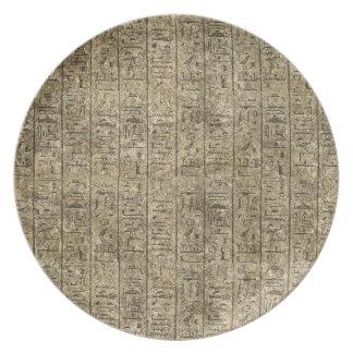 Hieroglyphics egipcios plato