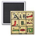 Hieroglyphics egipcios, símbolos alfabéticos imán para frigorífico