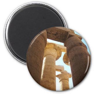 Hieroglyphics en pilares en los templos de Karnak Imán Redondo 5 Cm