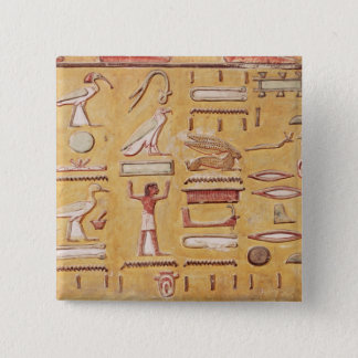 Hieroglyphics, from the Tomb of Seti I Button