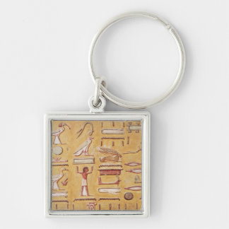 Hieroglyphics, from the Tomb of Seti I Keychain
