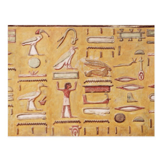 Hieroglyphics, from the Tomb of Seti I Post Cards