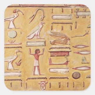 Hieroglyphics, from the Tomb of Seti I Square Sticker