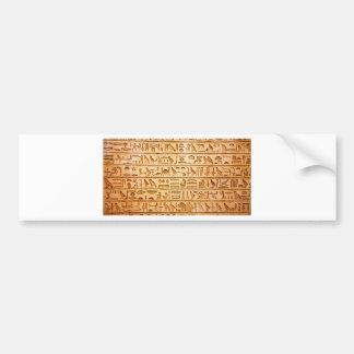 hieroglyphics hieroglifos bumper sticker