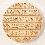 """hieroglyphics hieroglifos sandstone coaster<br><div class=""""desc"""">hieroglyphics hieroglifos</div>"""