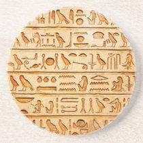 hieroglyphics hieroglifos sandstone coaster