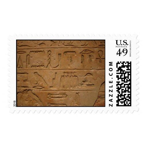 Hieroglyphics Postage Stamps