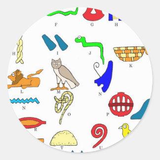 Hieroglyphics Classic Round Sticker