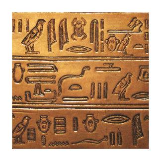 Hieroglyphs 2014-1020 canvas print