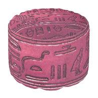 Hieroglyphs 2014-1031 round pouf