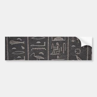 Hieroglyphs 2 bumper sticker