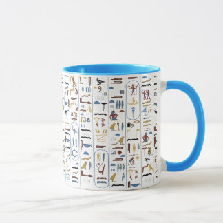 Hieroglyphs AncientEgypt Pharaoh Mug