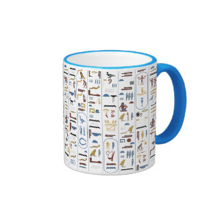 Hieroglyphs AncientEgypt Pharaoh Ringer Mug