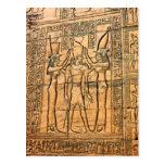 Hieroglyphs at Edfu Temple, Egypt Postcard