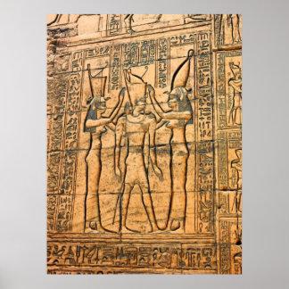 Hieroglyphs at Edfu Temple, Egypt Poster