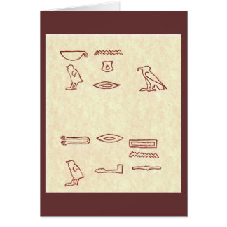 HIEROGLYPHS - CONGRATULATIONS GREETING CARD