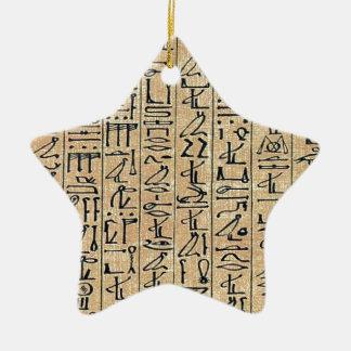 Hieroglyphs Hieroglifos Ceramic Ornament