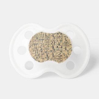 Hieroglyphs Hieroglifos Baby Pacifiers
