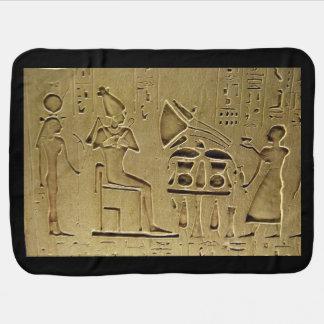 Hieroglyphs Receiving Blanket