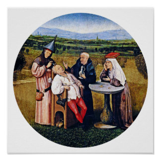 Hieronymous Bosch - Extracting Stone of Madness Poster
