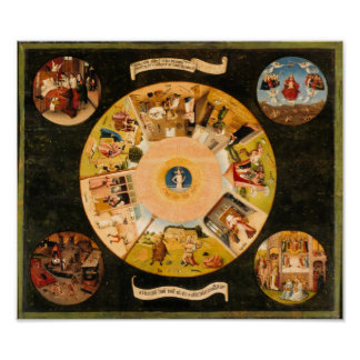 Hieronymous Bosch: Table of the mortal sins Poster