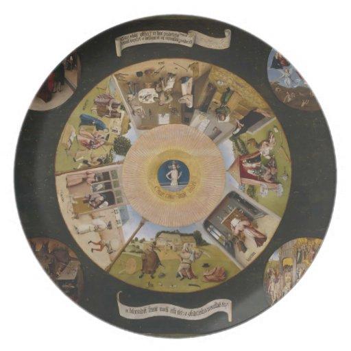 Hieronymus Bosch 7 pecados mortales y 4 cosas pasa Platos