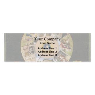 Hieronymus Bosch 7 pecados mortales y 4 cosas pasa Tarjeta De Negocio