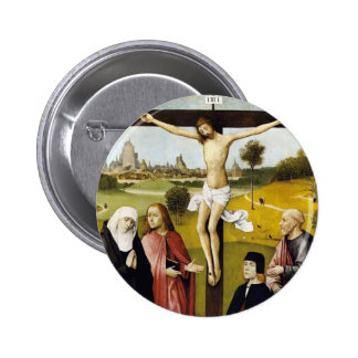 Hieronymus Bosch: Crucifixión con un donante Pin