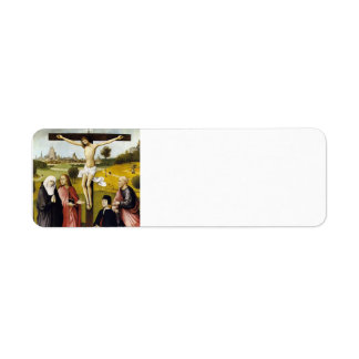 Hieronymus Bosch: Crucifixion with a Donor Return Address Label