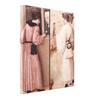 Hieronymus Bosch - detalle de siete pecados Lona Envuelta Para Galerías