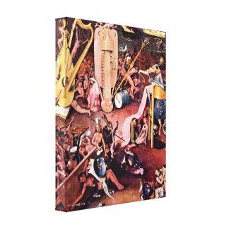 Hieronymus Bosch - el jardín del infierno, detalle Lona Estirada Galerías