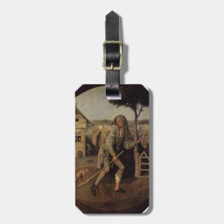 Hieronymus Bosch el vagabundo (el hijo despilfarra Etiquetas Maletas