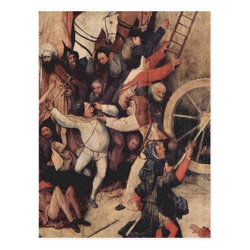 Hieronymus Bosch Haywain (detalle) Postal