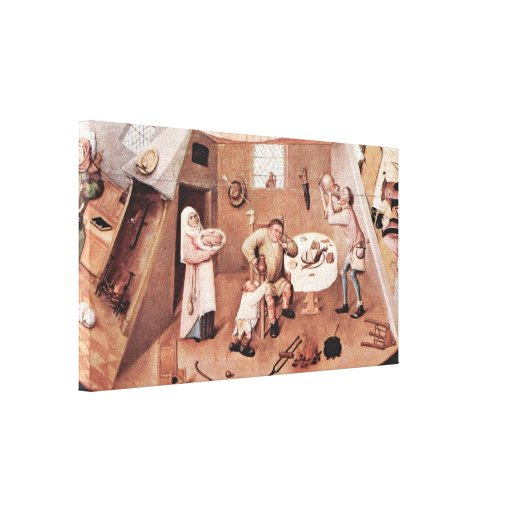 Hieronymus Bosch - intemperancia Lona Estirada Galerías