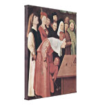 Hieronymus Bosch - Magician Detail Stretched Canvas Print