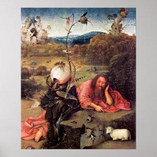 Hieronymus Bosch-Meditator St. John the Baptist Poster