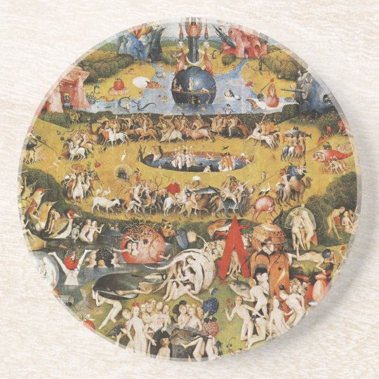 Hieronymus Bosch painting art Sandstone Coaster