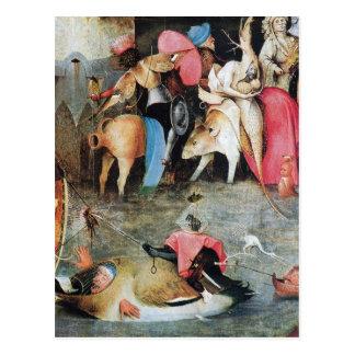 Hieronymus Bosch que pinta arte Postal