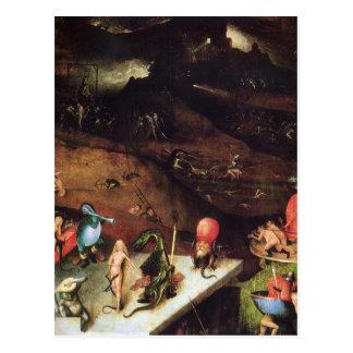 Hieronymus Bosch que pinta arte Tarjetas Postales