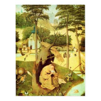 Hieronymus Bosch que pinta arte Tarjeta Postal