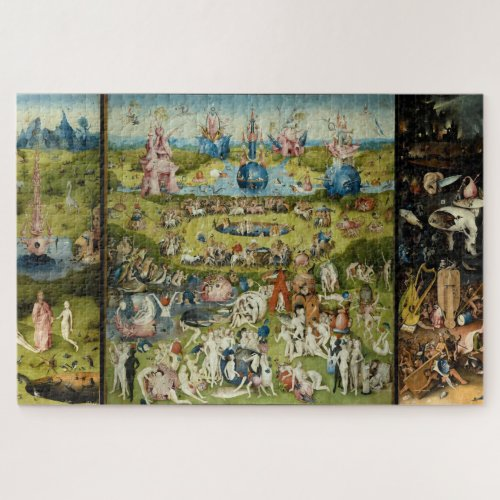 Hieronymus Bosch Surreal Vintage Fine Art Painting Jigsaw Puzzle