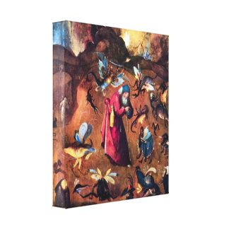 Hieronymus Bosch - Temptation of St Anthony Gallery Wrap Canvas