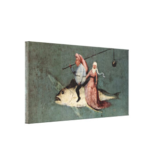 Hieronymus Bosch - Temptation of St Anthony Canvas Print