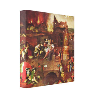 Hieronymus Bosch - Temptation of StAnthony Gallery Wrapped Canvas